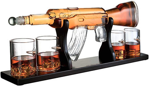 AK47 Whiskey Decanter
